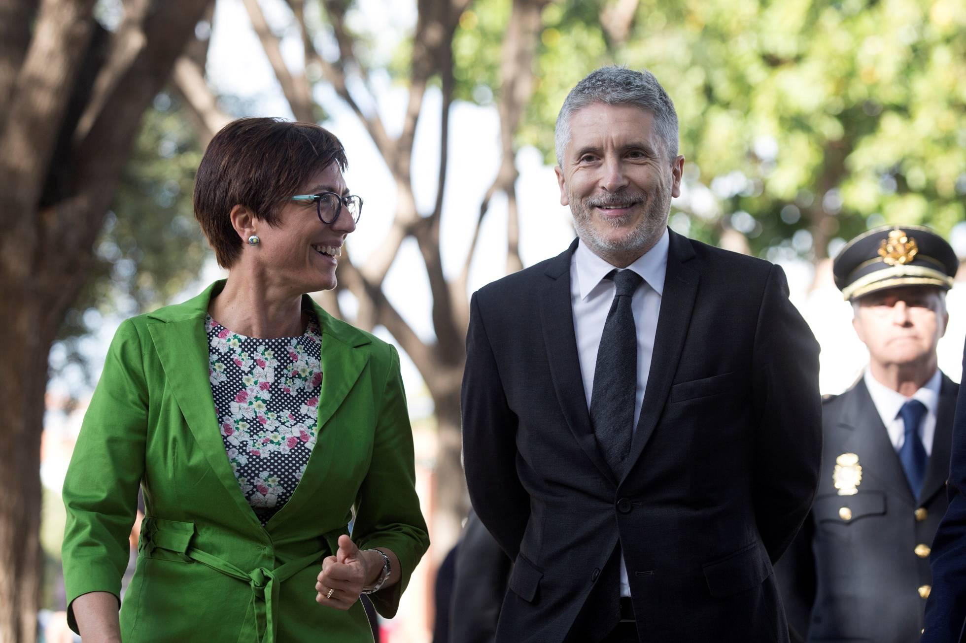 Foto de María Gámez y Fernando Grande-Marlaska